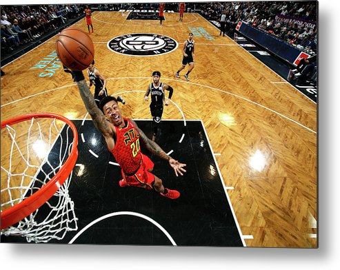 Nba Pro Basketball Metal Print featuring the photograph John Collins by Nathaniel S. Butler