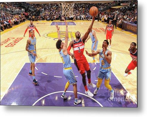 Nba Pro Basketball Metal Print featuring the photograph John Wall by Andrew D. Bernstein