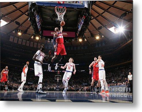 Nba Pro Basketball Metal Print featuring the photograph John Wall by Nathaniel S. Butler