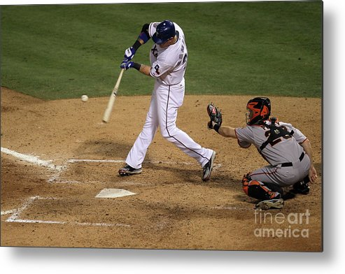 People Metal Print featuring the photograph Josh Hamilton by Stephen Dunn
