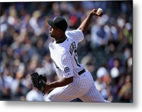 Baseball Pitcher Metal Print featuring the photograph Juan Nicasio by Doug Pensinger