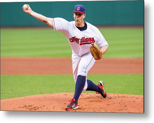 American League Baseball Metal Print featuring the photograph Justin Masterson by Jason Miller