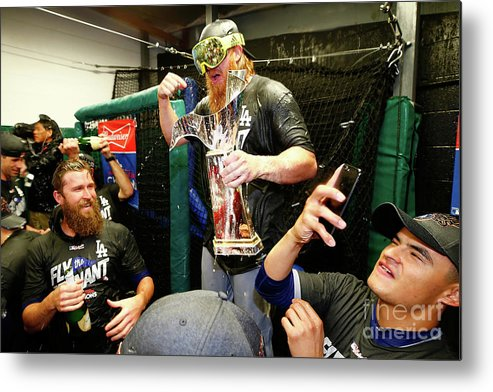 Championship Metal Print featuring the photograph Justin Turner by Jamie Squire
