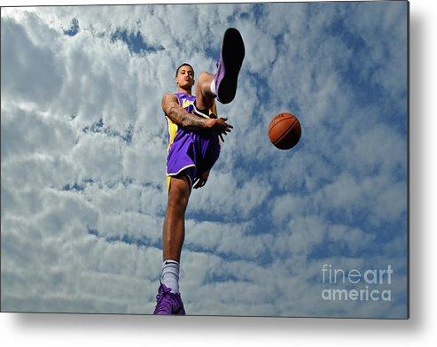 Nba Pro Basketball Metal Print featuring the photograph Kyle Kuzma by Jesse D. Garrabrant