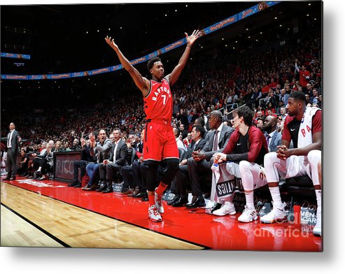 Nba Pro Basketball Metal Print featuring the photograph Kyle Lowry by Mark Blinch