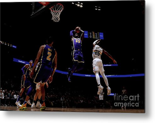 Nba Pro Basketball Metal Print featuring the photograph Lebron James by Bart Young