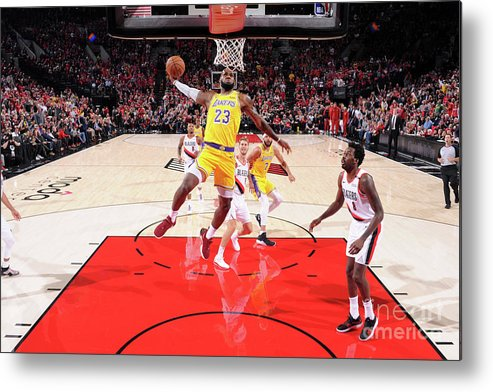 Nba Pro Basketball Metal Print featuring the photograph Lebron James by Sam Forencich
