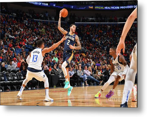 Smoothie King Center Metal Print featuring the photograph Lonzo Ball by Jesse D. Garrabrant