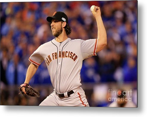 People Metal Print featuring the photograph Madison Bumgarner by Jamie Squire