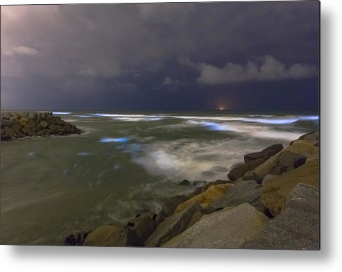 Southern California Metal Print featuring the photograph May 2018 Bioluminescent Red Tide In San Diego County by Kevin Key / Slworking