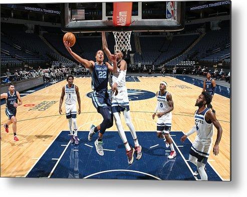 Nba Pro Basketball Metal Print featuring the photograph Memphis Grizzlies v Minnesota Timberwolves by David Sherman
