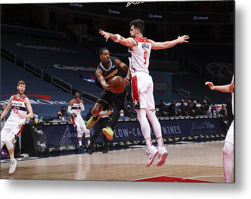 Nba Pro Basketball Metal Print featuring the photograph Memphis Grizzlies v Washington Wizards by Ned Dishman