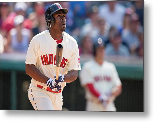 Michael Bourn Metal Print featuring the photograph Michael Bourn by Jason Miller