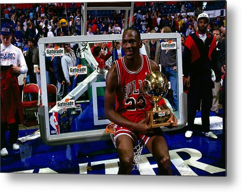 Chicago Bulls Metal Print featuring the photograph Michael Jordan by Andrew D. Bernstein