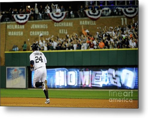People Metal Print featuring the photograph Miguel Cabrera by Kevork Djansezian