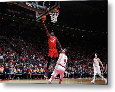 Nba Pro Basketball Metal Print featuring the photograph Pascal Siakam by Mark Blinch
