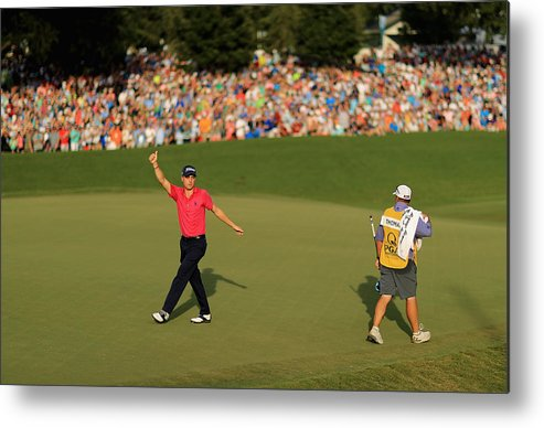North Carolina Metal Print featuring the photograph PGA Championship - Final Round by Mike Ehrmann