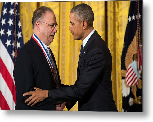 People Metal Print featuring the photograph President Obama Awards National Medals Of Science And Nat'l Medals Of Technology And Innovation by Drew Angerer