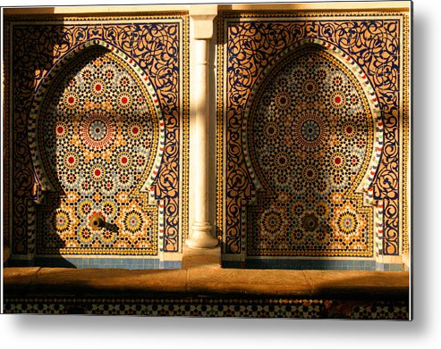 Water Fountain Metal Print featuring the photograph Public Water Fountain Rabat Morocco Northern Africa by PIXELS XPOSED Ralph A Ledergerber Photography