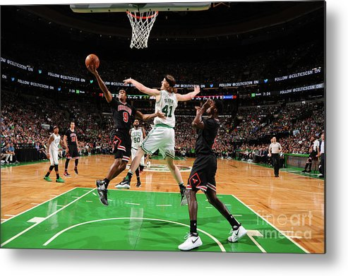 Playoffs Metal Print featuring the photograph Rajon Rondo by Brian Babineau