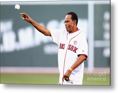 Three Quarter Length Metal Print featuring the photograph Rod Carew by Maddie Meyer