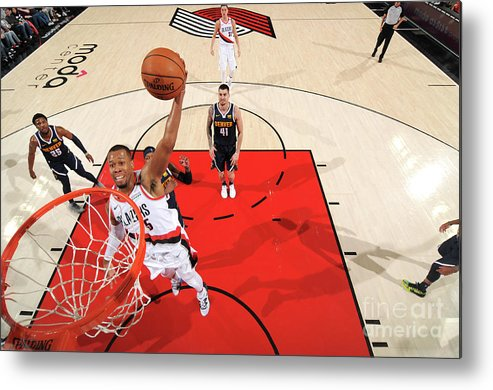 Nba Pro Basketball Metal Print featuring the photograph Rodney Hood by Cameron Browne