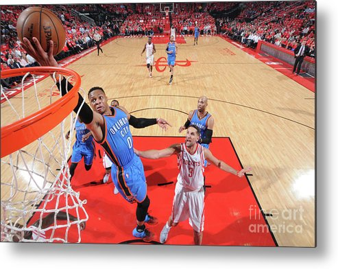 Playoffs Metal Print featuring the photograph Russell Westbrook by Bill Baptist
