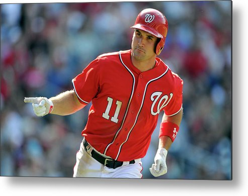 American League Baseball Metal Print featuring the photograph Ryan Zimmerman by Greg Fiume