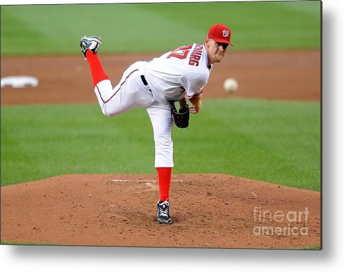 Stephen Strasburg Metal Print featuring the photograph Stephen Strasburg by G Fiume