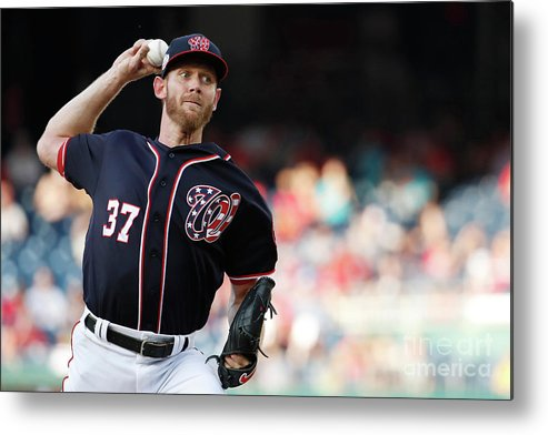 Three Quarter Length Metal Print featuring the photograph Stephen Strasburg by Patrick Mcdermott