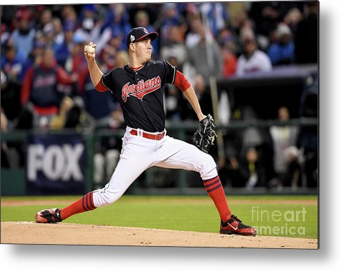 Game Two Metal Print featuring the photograph Trevor Bauer by Jason Miller