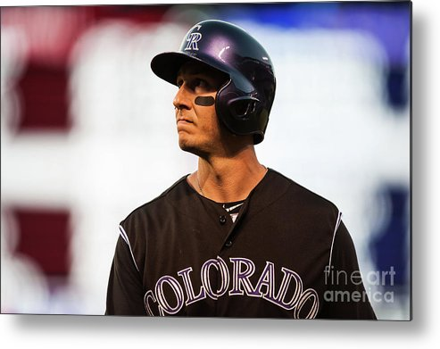 People Metal Print featuring the photograph Troy Tulowitzki by Dustin Bradford