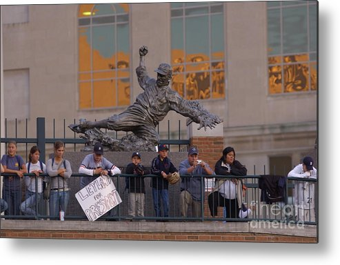 American League Baseball Metal Print featuring the photograph Ty Cobb by Mark Cunningham