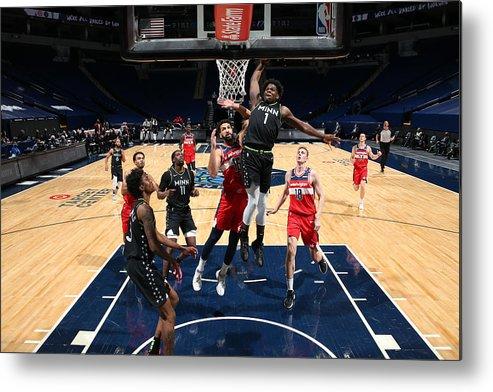 Nba Pro Basketball Metal Print featuring the photograph Washington Wizards v Minnesota Timberwolves by David Sherman