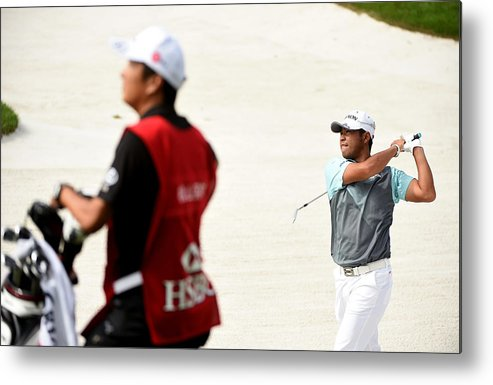 Three Quarter Length Metal Print featuring the photograph WGC - HSBC Champions: Day Two by Ross Kinnaird
