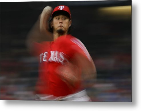 Game Two Metal Print featuring the photograph Yu Darvish by Ronald Martinez