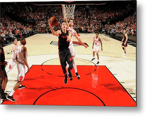 Nba Pro Basketball Metal Print featuring the photograph Zach Collins by Cameron Browne