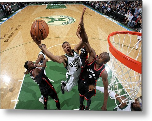 Playoffs Metal Print featuring the photograph Giannis Antetokounmpo by Gary Dineen