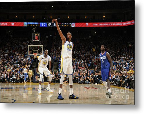 Nba Pro Basketball Metal Print featuring the photograph Kevin Durant by Noah Graham