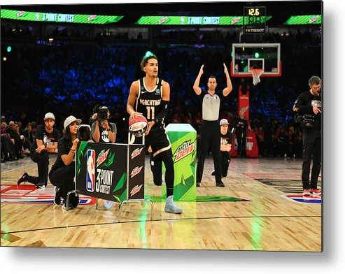 Nba Pro Basketball Metal Print featuring the photograph 2020 NBA All-Star - MTN DEW 3-Point Contest by Jesse D. Garrabrant
