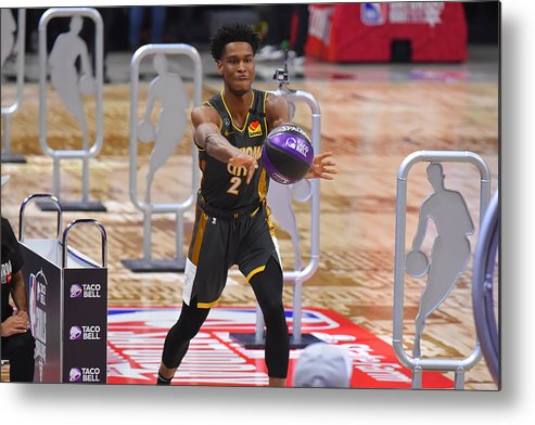 Nba Pro Basketball Metal Print featuring the photograph 2020 NBA All-Star - Taco Bell Skills Challenge by Bill Baptist