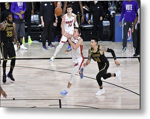 Playoffs Metal Print featuring the photograph 2020 NBA Finals - Miami Heat v Los Angeles Lakers by Fernando Medina