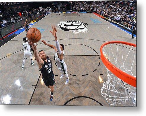 Nba Pro Basketball Metal Print featuring the photograph 2021 NBA Playoffs - Milwaukee Bucks v Brooklyn Nets by Jesse D. Garrabrant