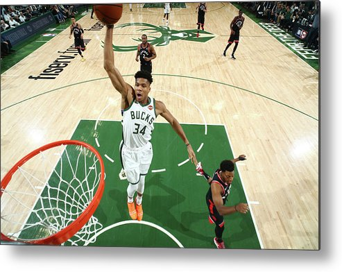 Playoffs Metal Print featuring the photograph Giannis Antetokounmpo by Nathaniel S. Butler