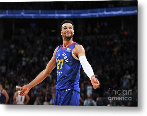Nba Pro Basketball Metal Print featuring the photograph Jamal Murray by Garrett Ellwood