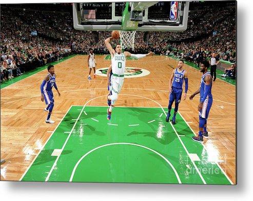Nba Pro Basketball Metal Print featuring the photograph Jayson Tatum by Brian Babineau