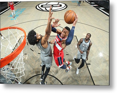 Nba Pro Basketball Metal Print featuring the photograph Russell Westbrook by Nathaniel S. Butler