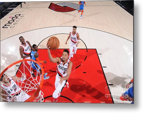 Playoffs Metal Print featuring the photograph C.j. Mccollum by Sam Forencich