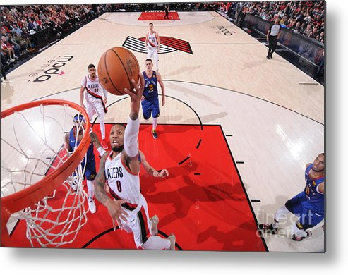 Event Metal Print featuring the photograph Damian Lillard by Sam Forencich