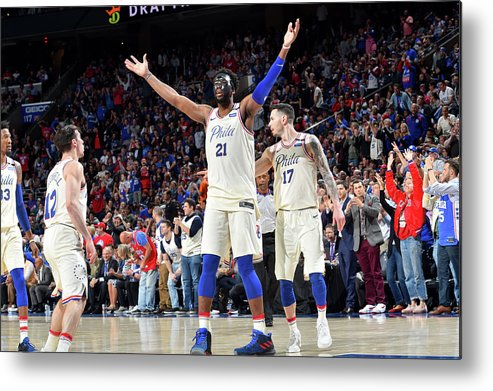 Playoffs Metal Print featuring the photograph Joel Embiid by Jesse D. Garrabrant